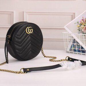 NWT Gucci Marmont Round Zip Around Crossbody Bag